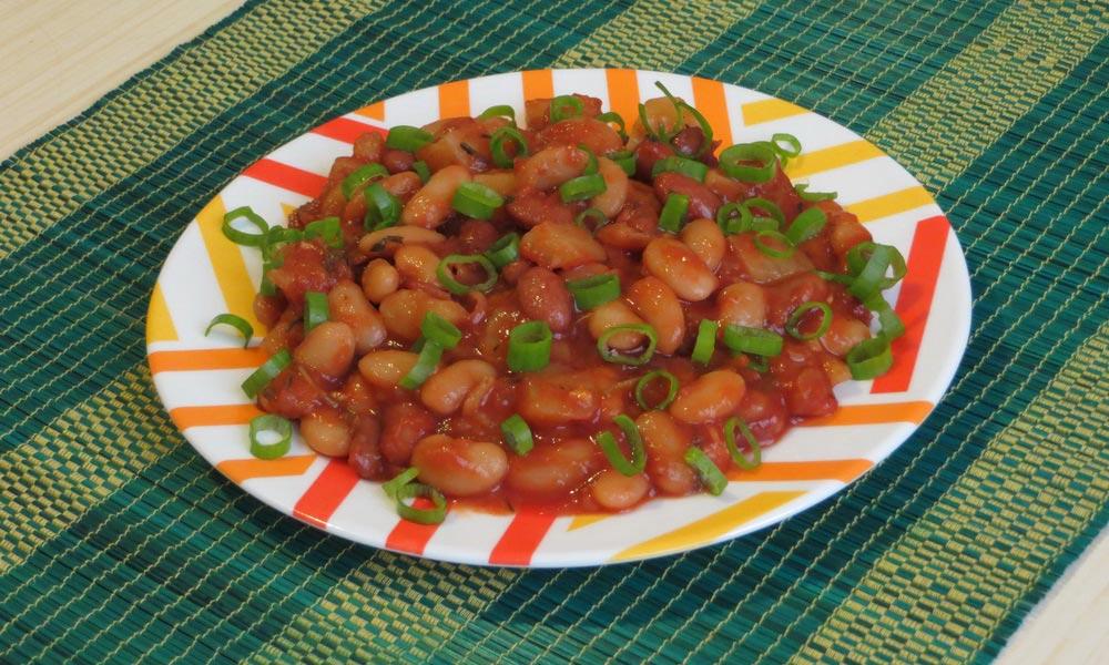 Вкуснейшее вегетарианское рагу из фасоли и картофеля