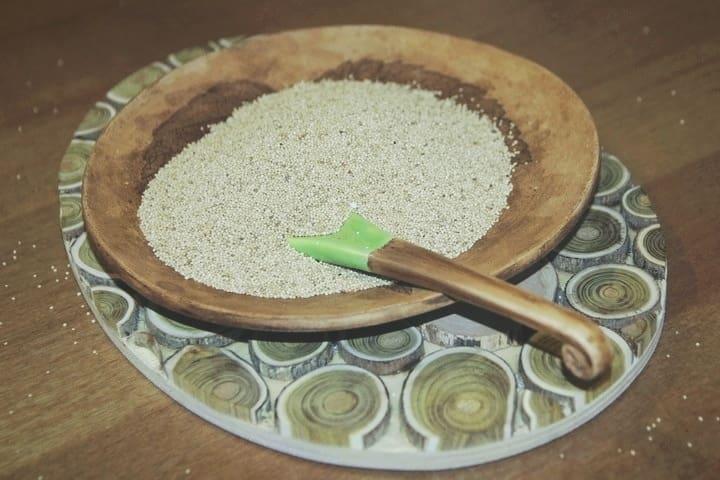 Белые семена амаранта